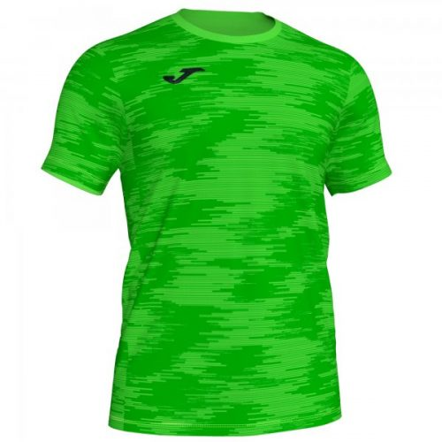 Short sleeved round neck t-shirt designed with base fabric. 100% polyester
