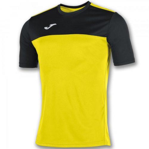 Joma Winner Short Sleeve T-shirt Black/Yellow