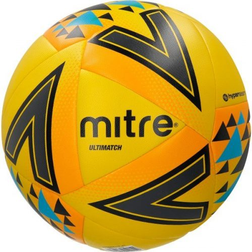 Mitre Ultimatch Ball - Yellow