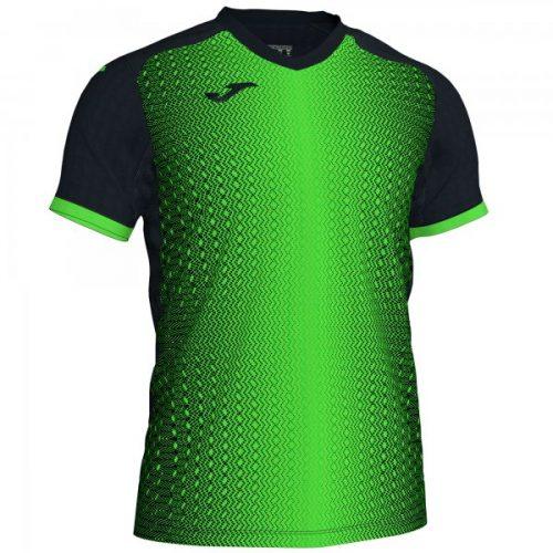 Joma Supernova T-shirt Black/Fluorescent Green