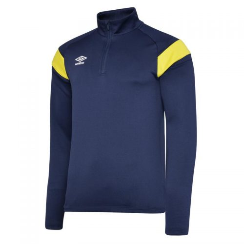 1/2 Zip Top Blue & Yellow
