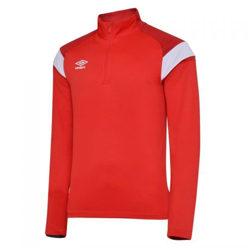 1/2 Zip Top Red & White