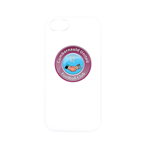 Cumbernauld Utd Phone Case Samsung or Iphone White