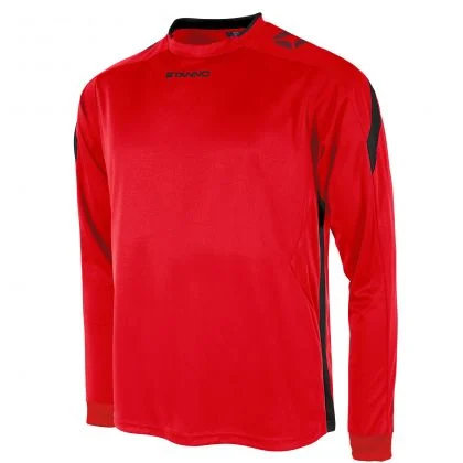 stanno drive shirt LS red BLACK