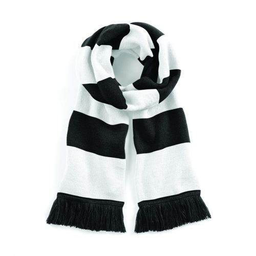 Gretna Black & White Bar Scarf