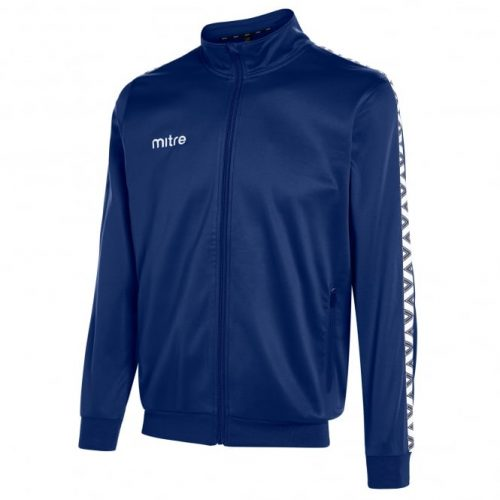 mitre poly tracksuit top navy